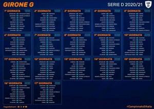 CALENDARIO SERIE D GIRONE G 2020-2021